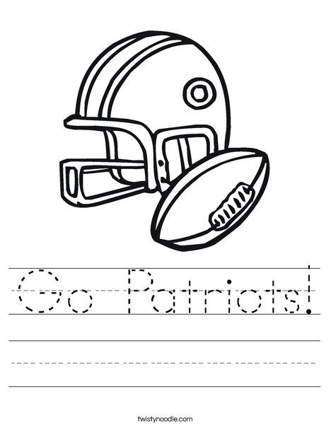 football coloring pages patriot - photo#30