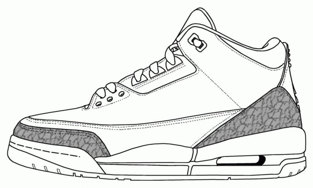 jordans shoes coloring pages - photo#2