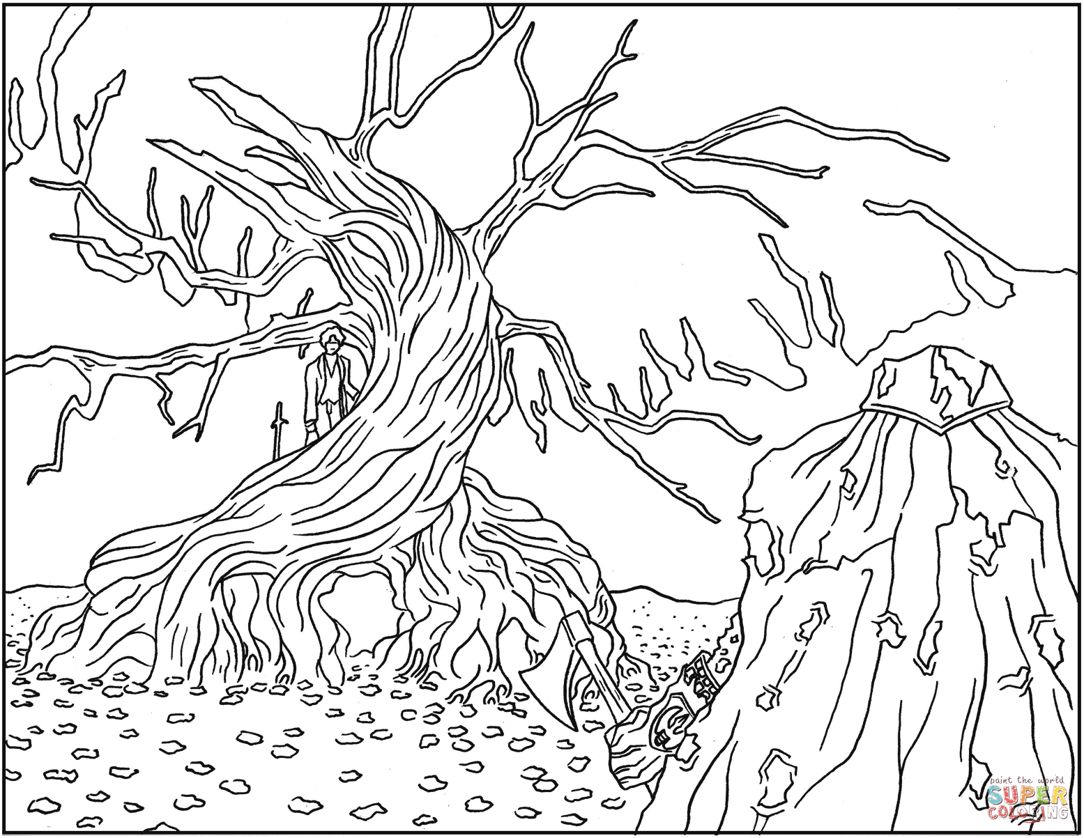 The Nightmare Before Christmas Coloring Pages - Coloring Home