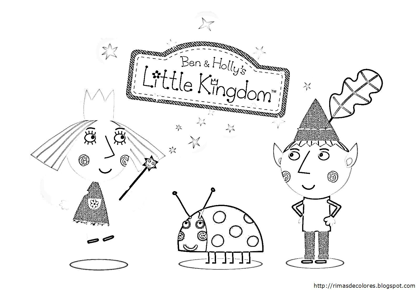ben and hollys little kingdom free colouring sheets