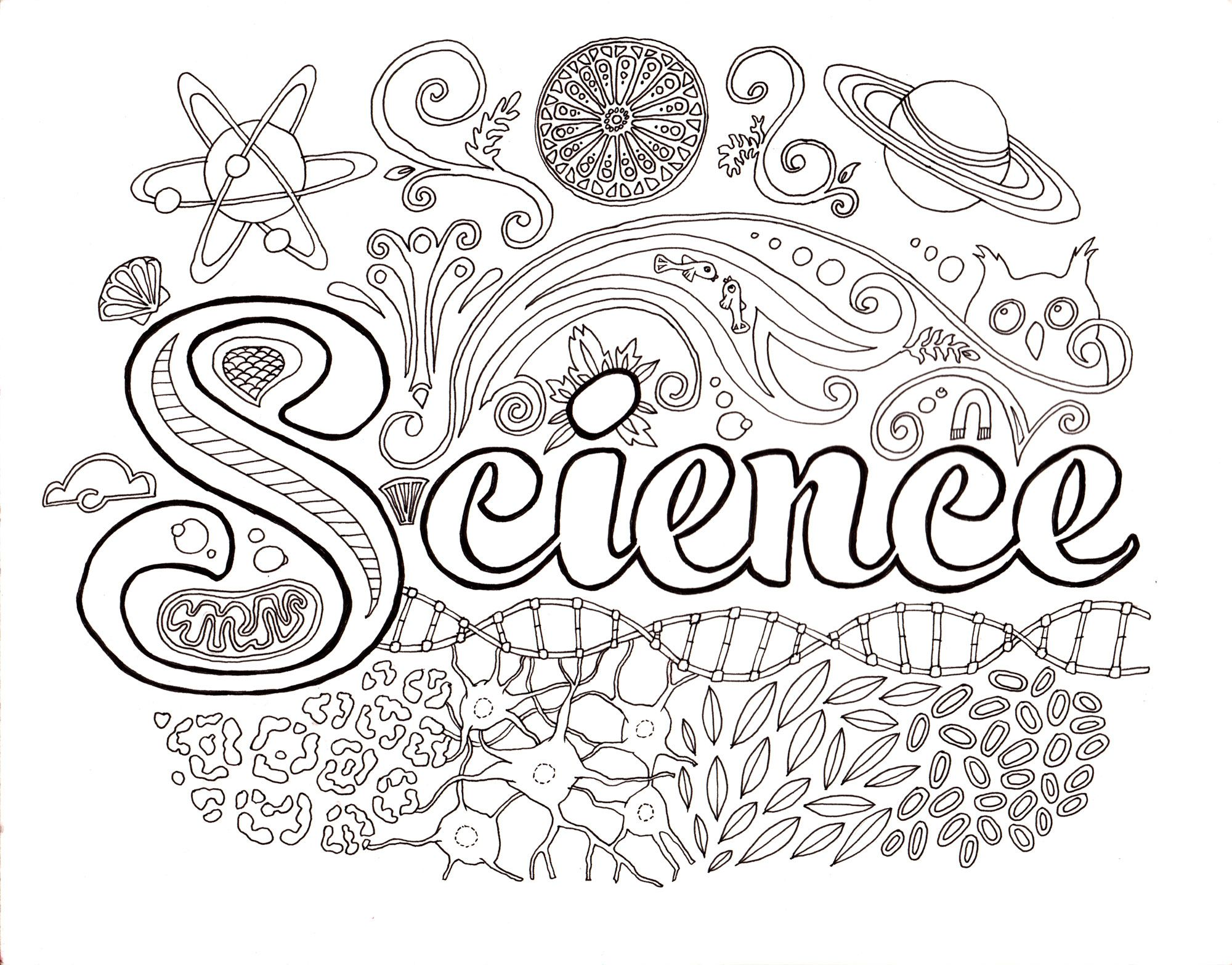 coloring pages for kids children science. printable. meet the ...