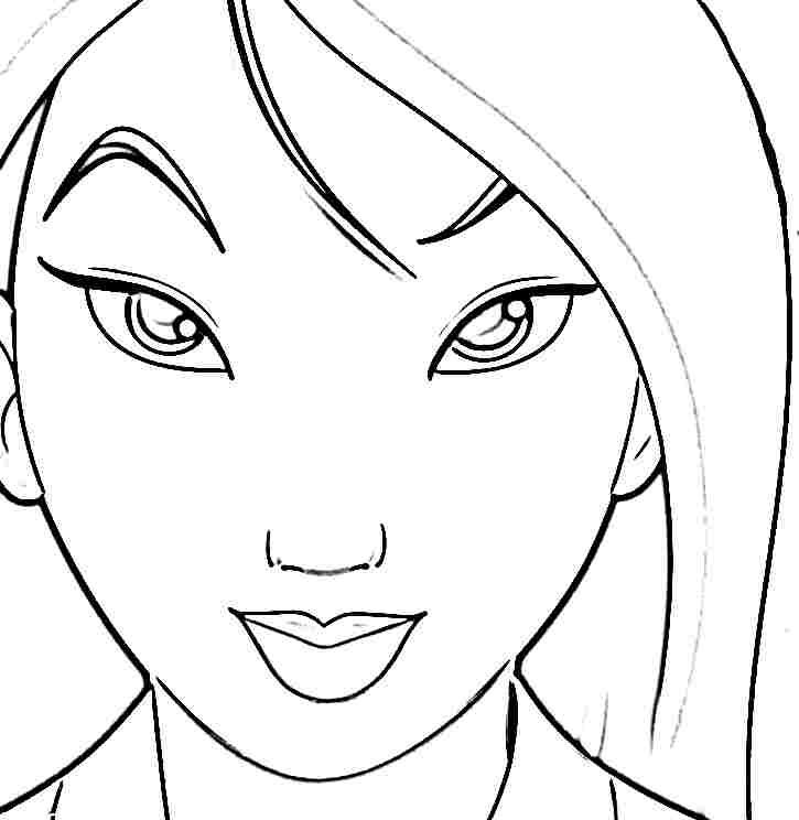 Disney Princess Mulan Coloring Sheets Printable Free For Little
