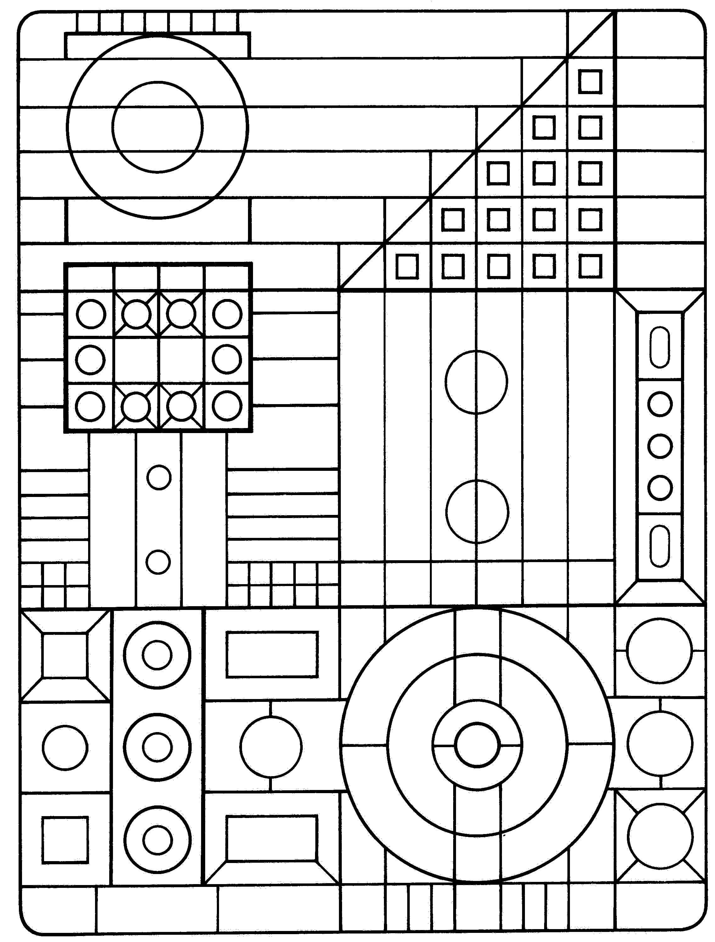 Abstract Shapes Coloring Pages : Abstract shapes coloring pages az