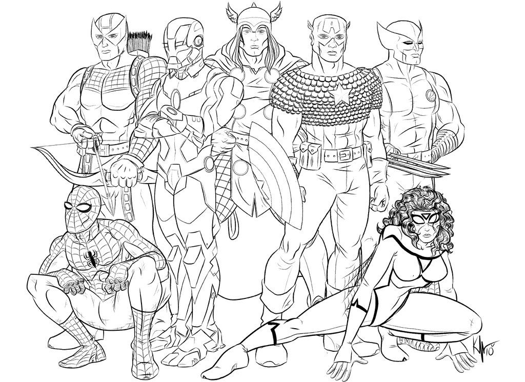 Printable Marvel Characters Coloring Pages - Coloring Home