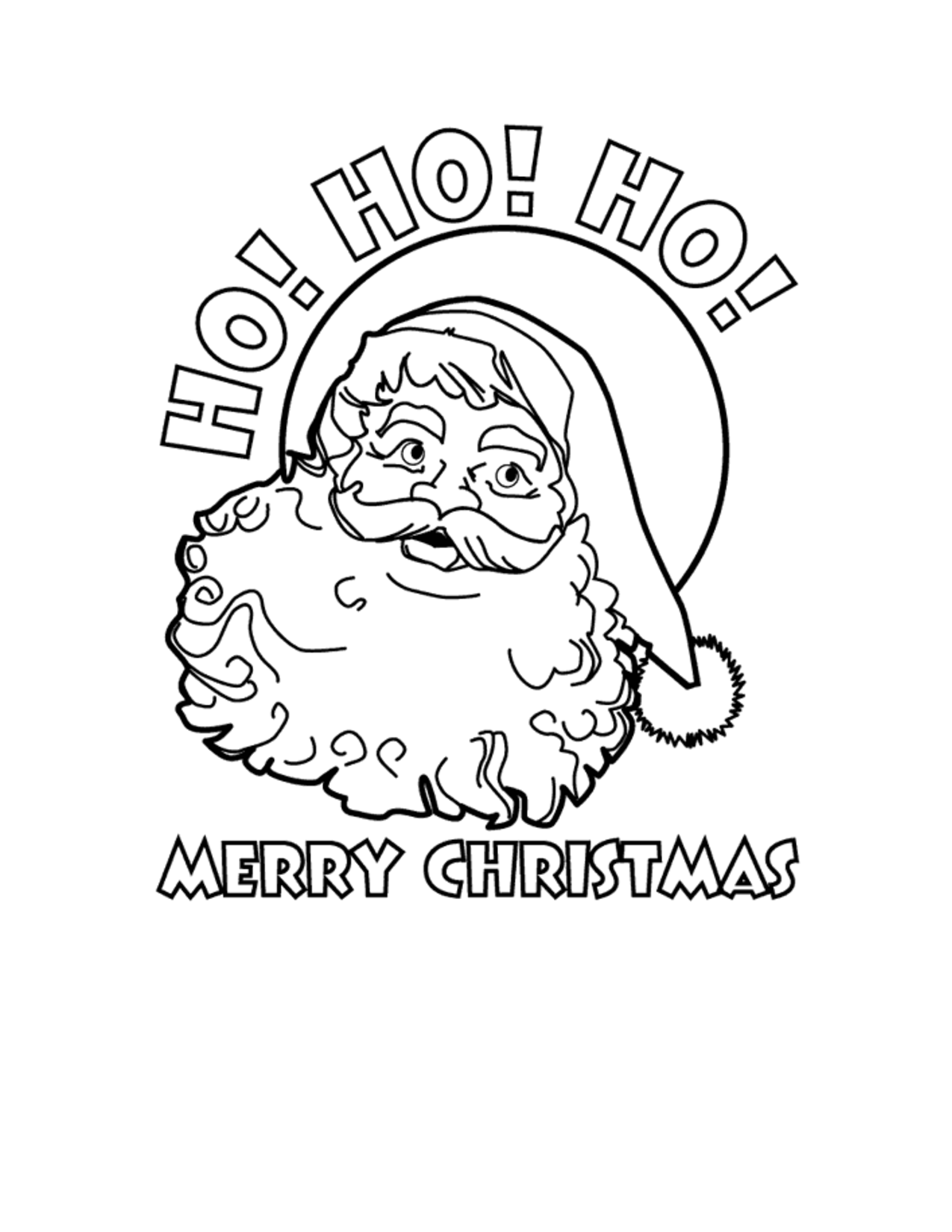 Merry Christmas Coloring Pages Free - Coloring Home