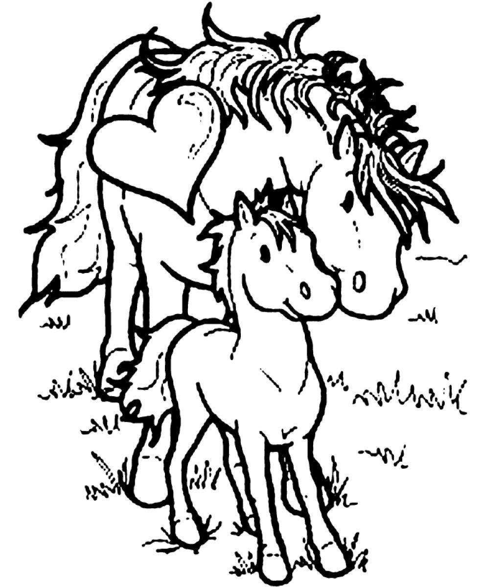 Kawaii Horse Coloring Page Coloring