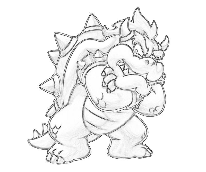 Printable Bowser - Coloring Pages for Kids and for Adults