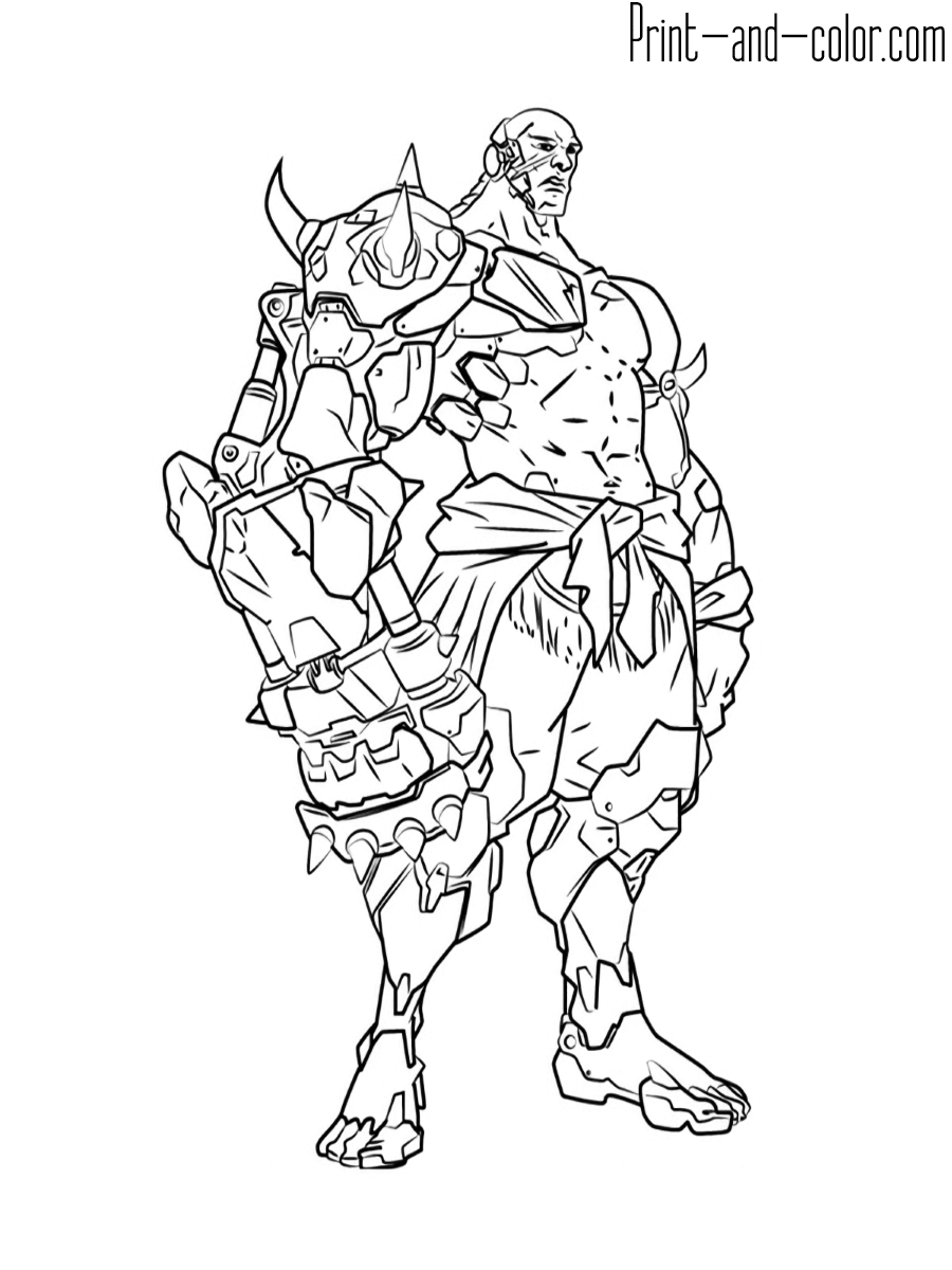 Overwatch Coloring Pages Print And Color Com Coloring Home