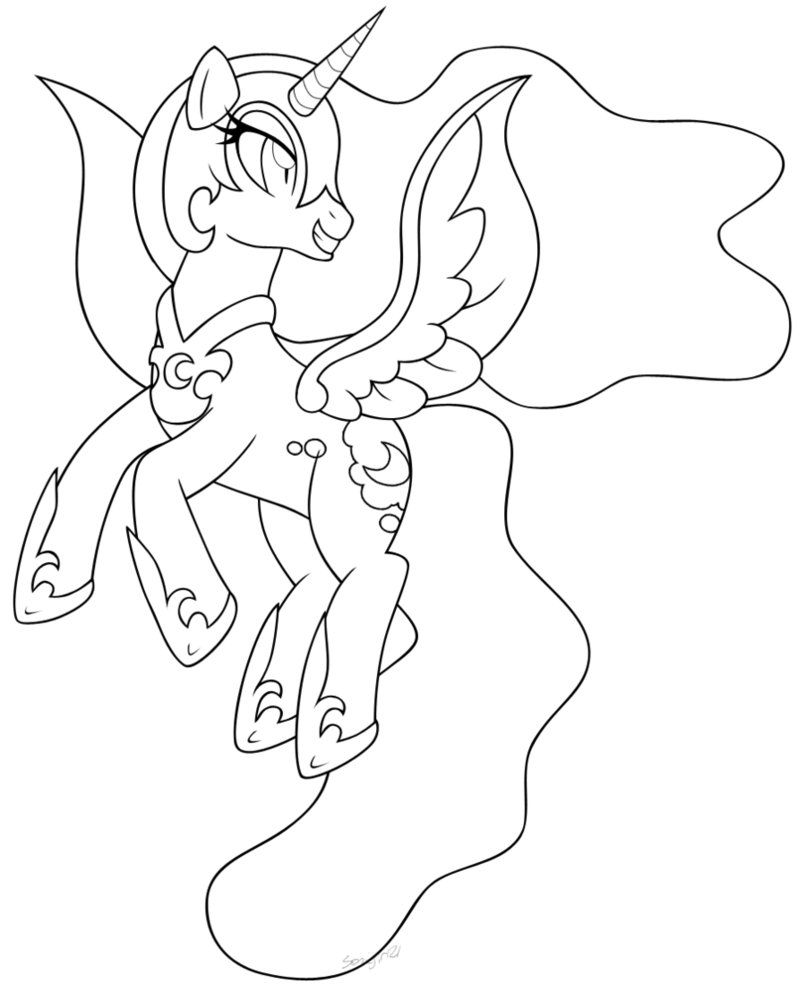 Nightmare Moon Coloring Page - HiColoringPages