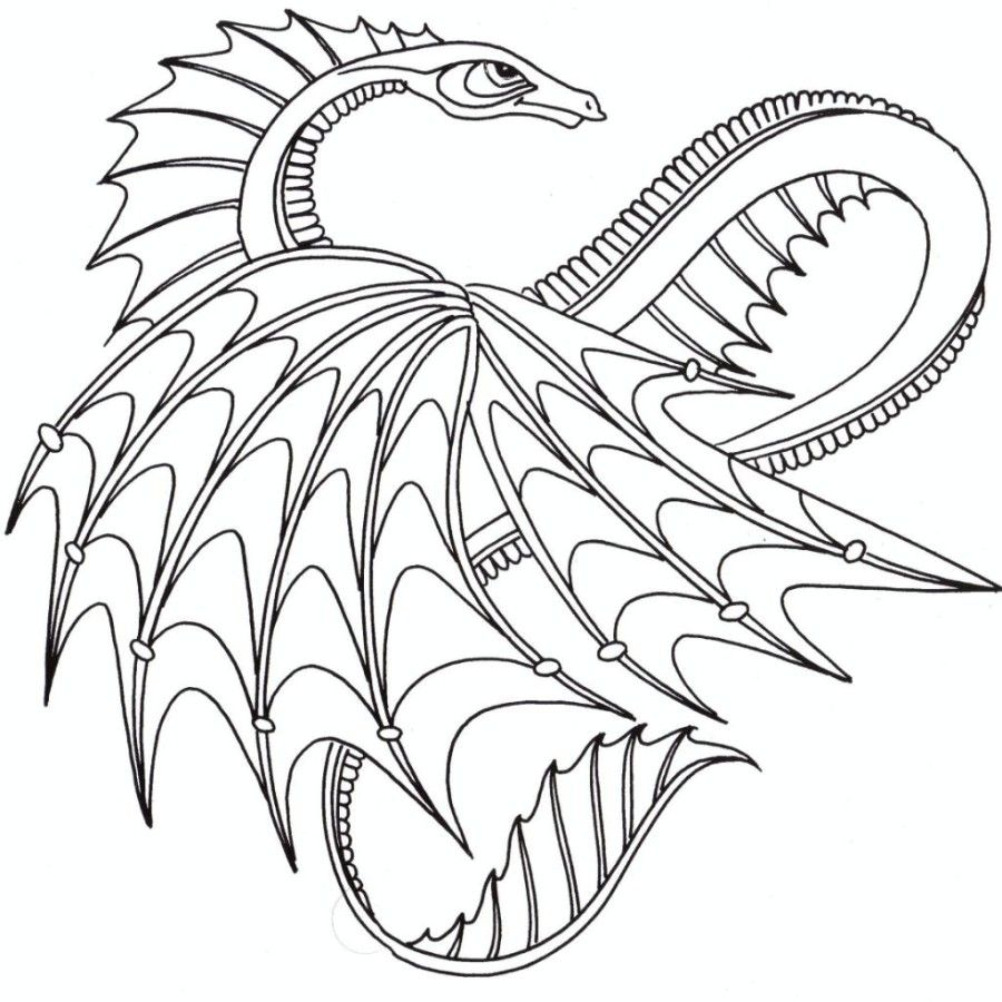 detailed dragon coloring pages - photo #37