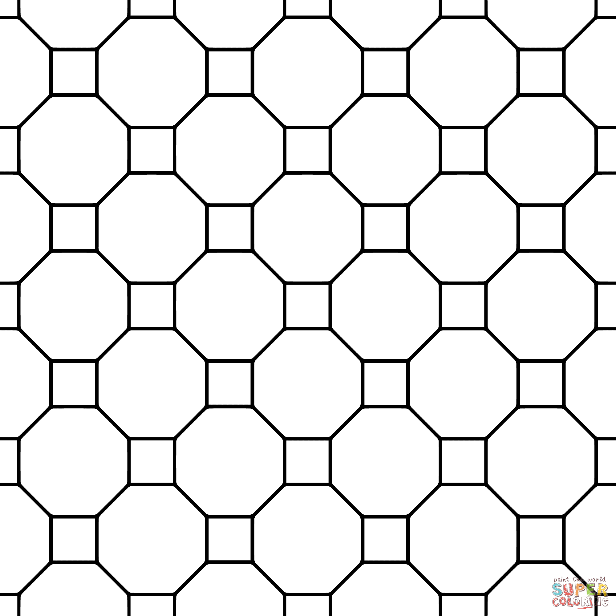 tessellations coloring pages - photo#35