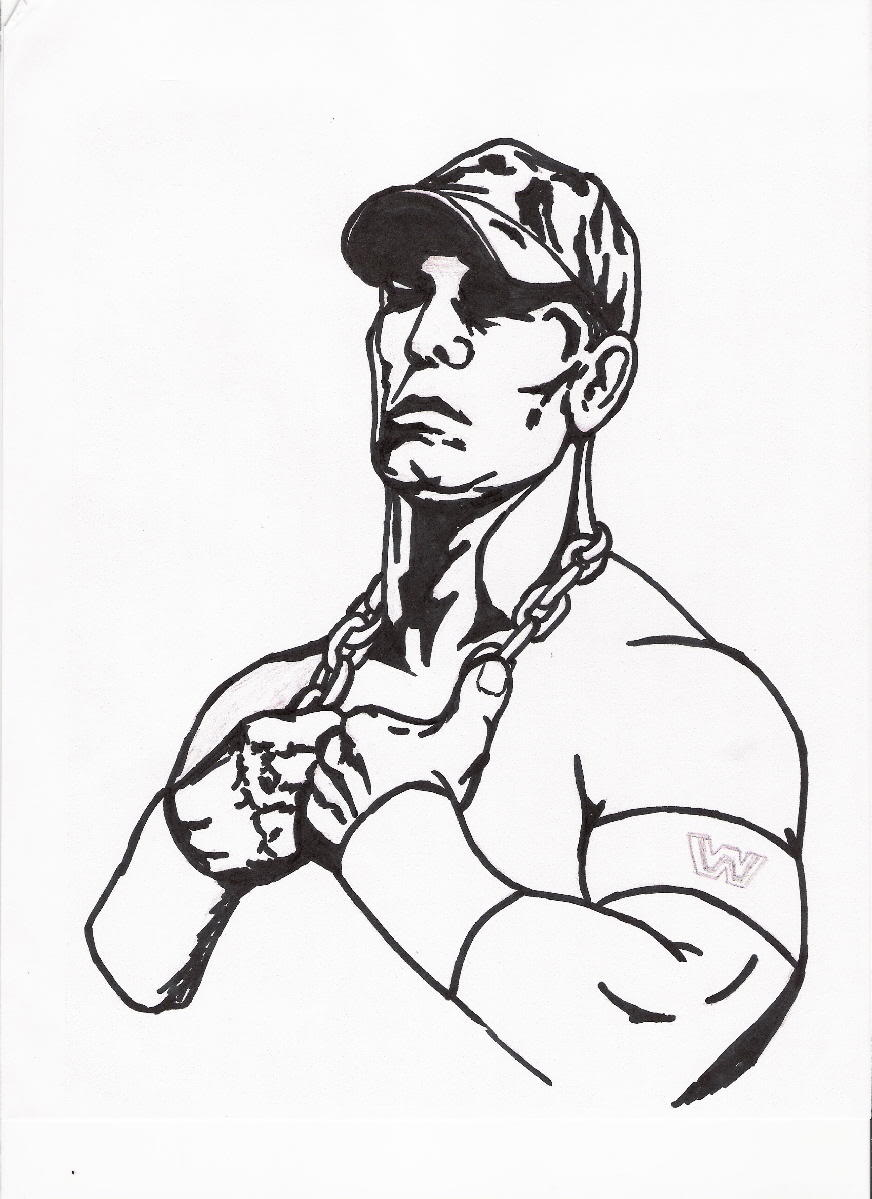 Coloring Pages Wwe Coloring Pages John Cena john cena coloring pages printable az page