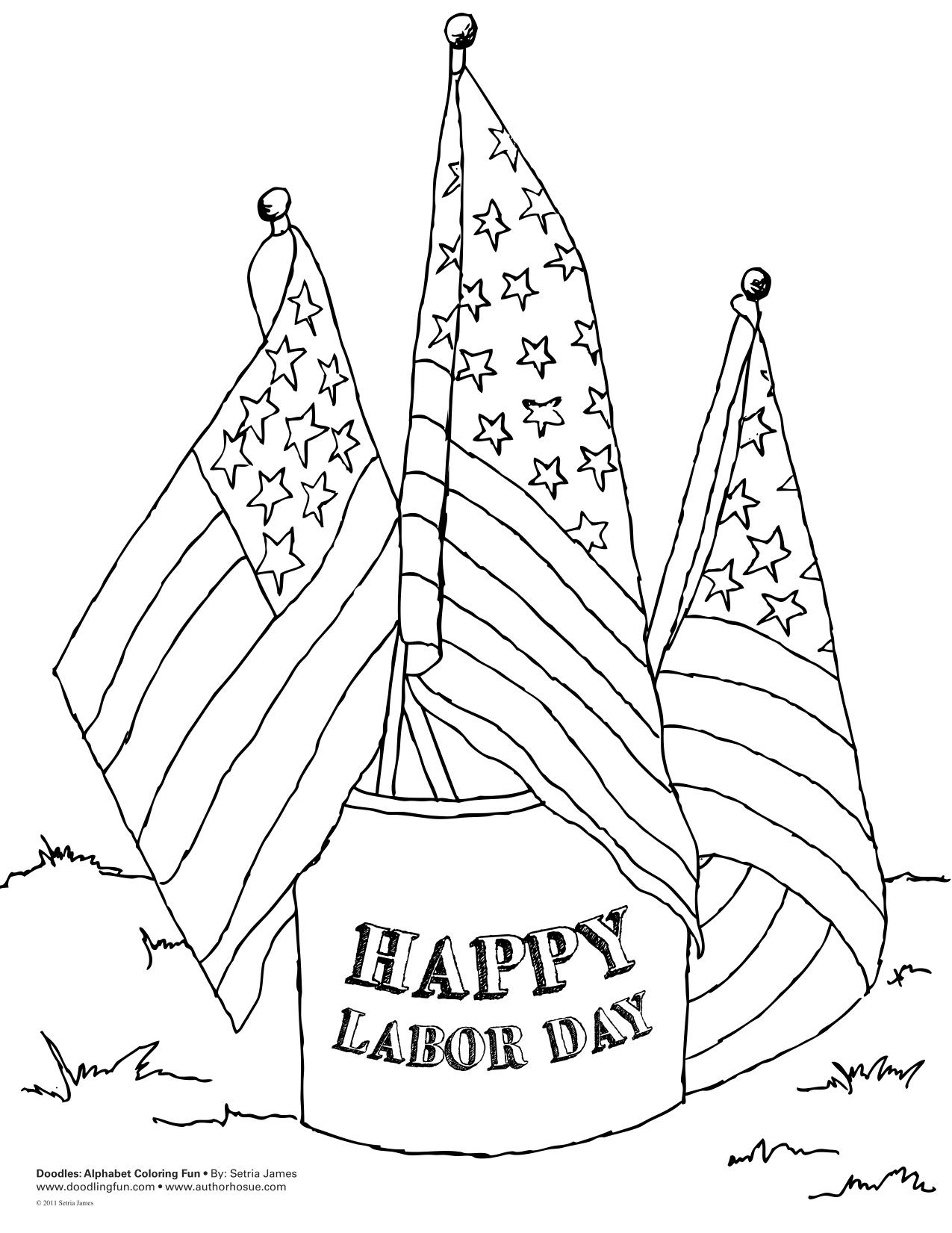 Coloring Pages For Labor Day : Labor day coloring pages az