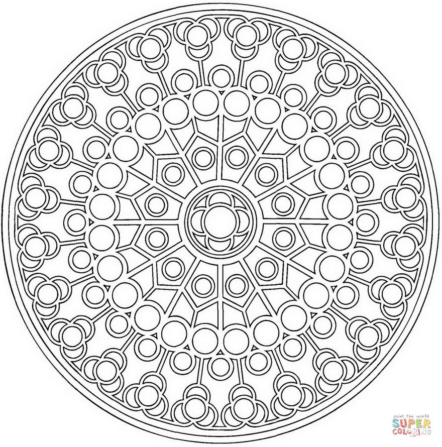 Circles Coloring Page - Coloring Home