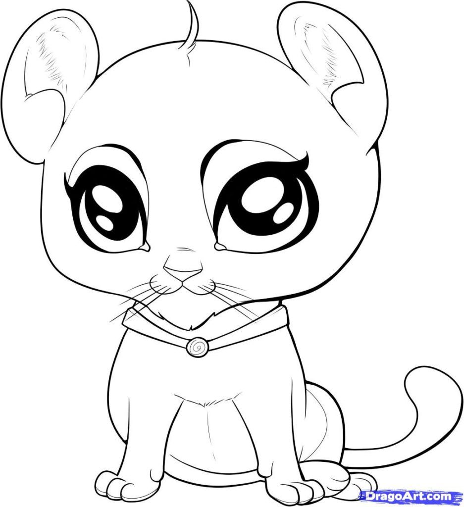 Cute Baby Animal Coloring Pages Printable - AZ Coloring Pages