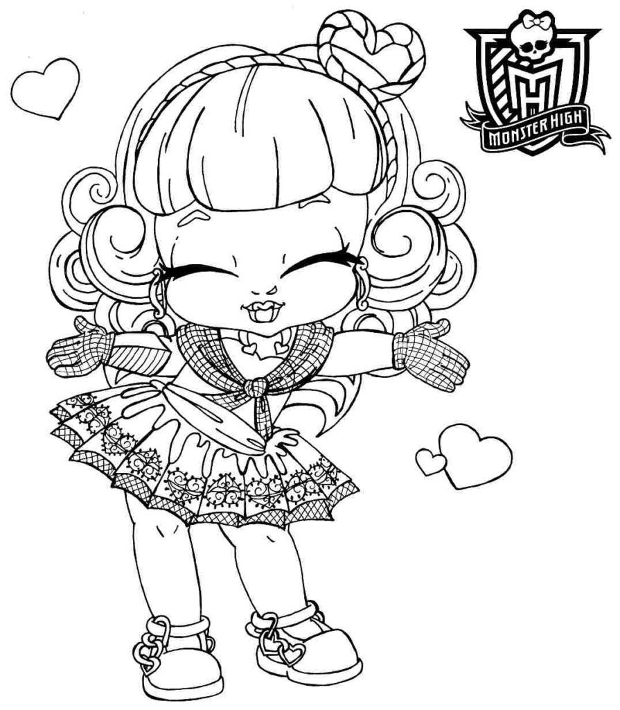 Free Baby Monster High Coloring Pages Az Coloring Pages High Babies Coloring Pages
