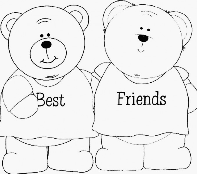 Best Friends Forever Coloring Pages - Coloring Home
