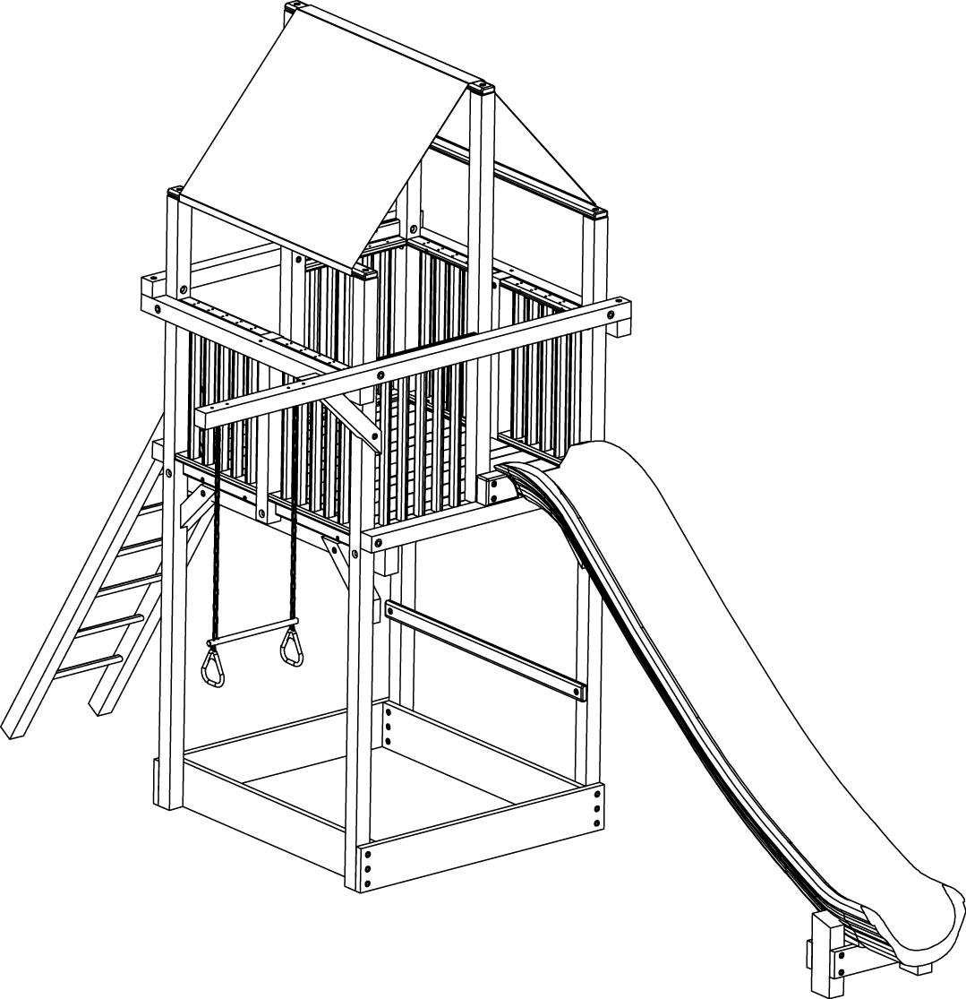 how to draw a playground slide