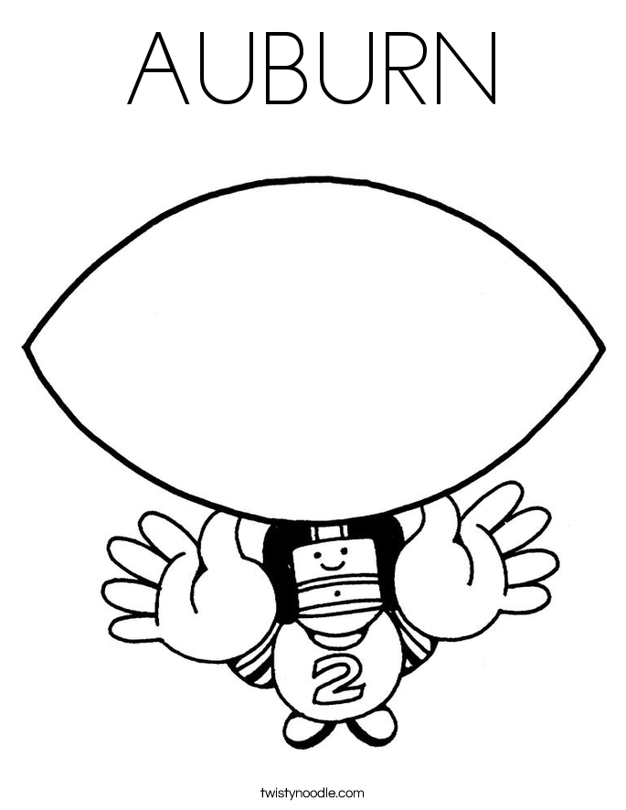 Auburn Coloring Pages Coloring Home Auburn Coloring Pages
