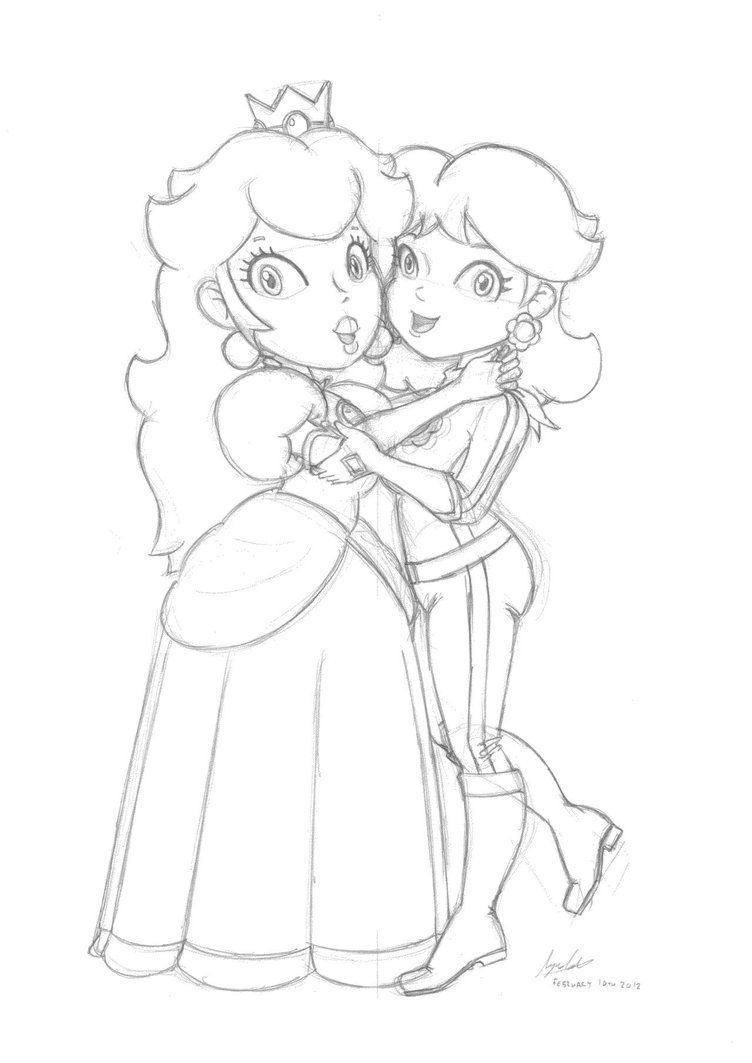 coloring pages of princess peach and daisy high quality coloring