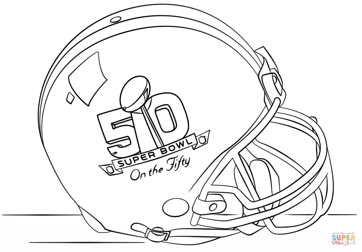 Super Bowl 2016 Helmet coloring page | Free Printable Coloring Pages