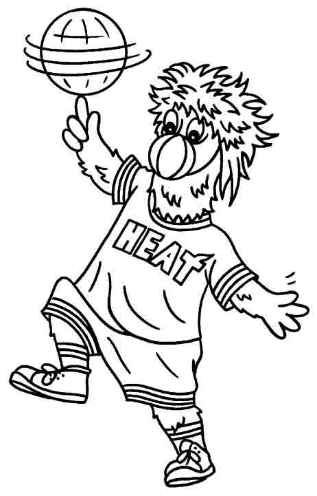 Miami Heat Coloring Page