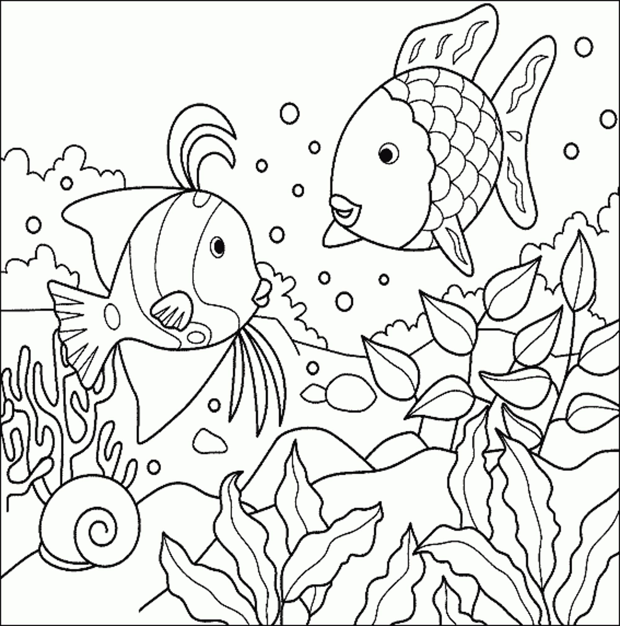 Best Photos Of Tropical Fish Coloring Pages Free