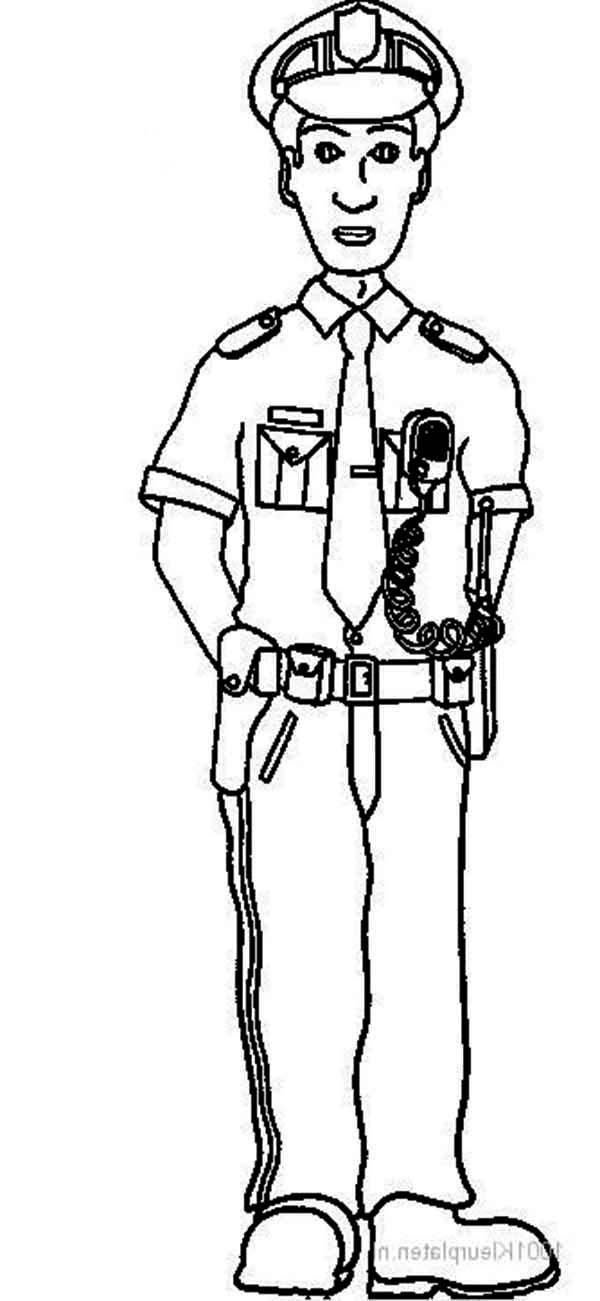 policeman coloring pages kids - photo#25