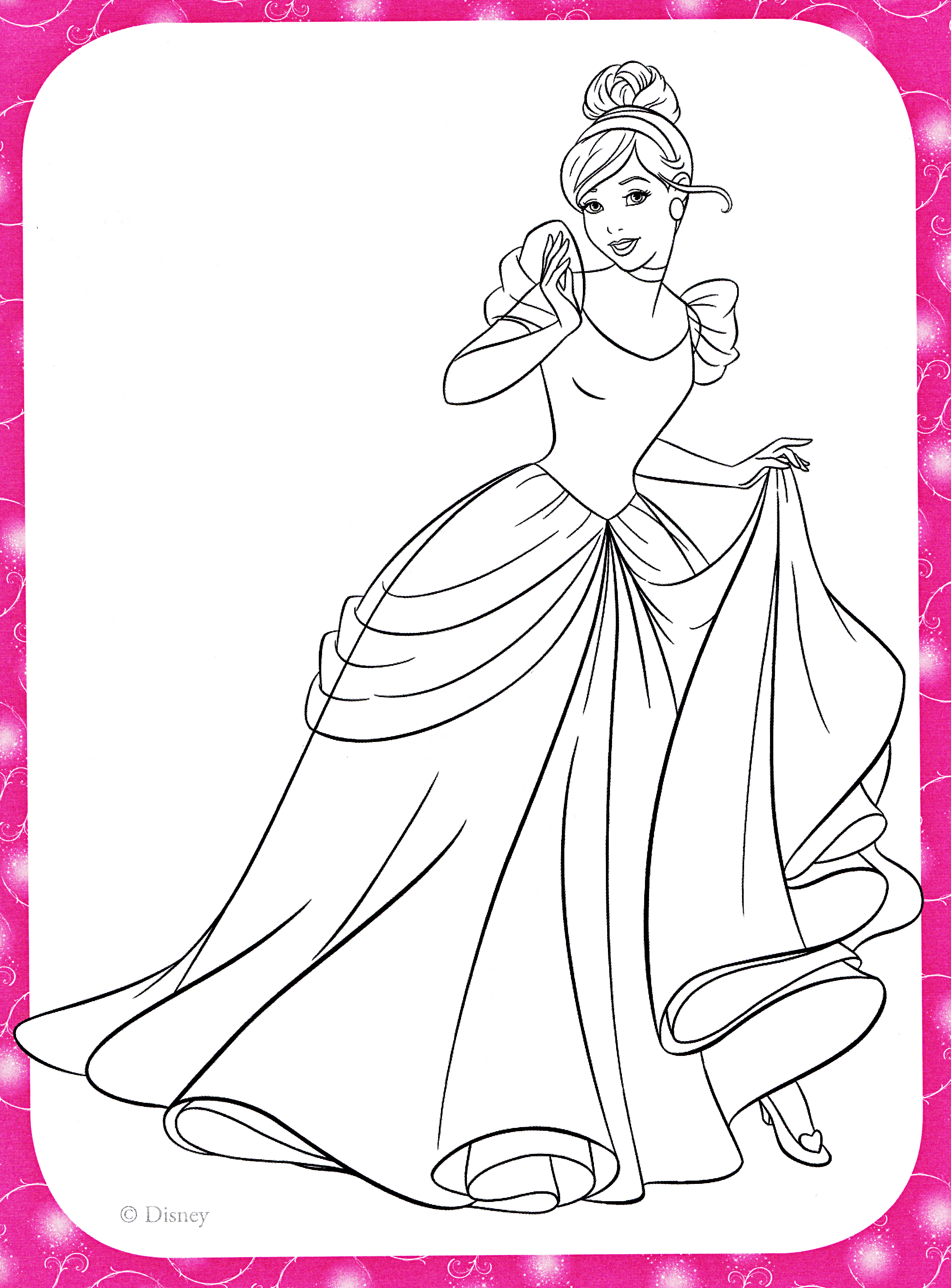 Disney princess coloring pages cinderella coloring home for Cinderella coloring pages online