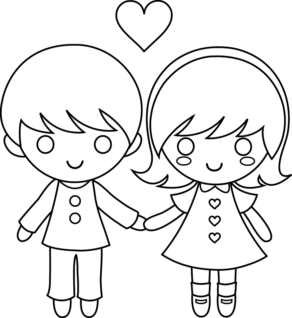 Little boy and girl coloring pages coloring home for Coloring pages for girls and boys