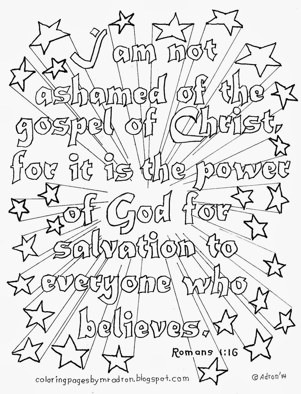 Bible Quote Coloring Pages Coloring
