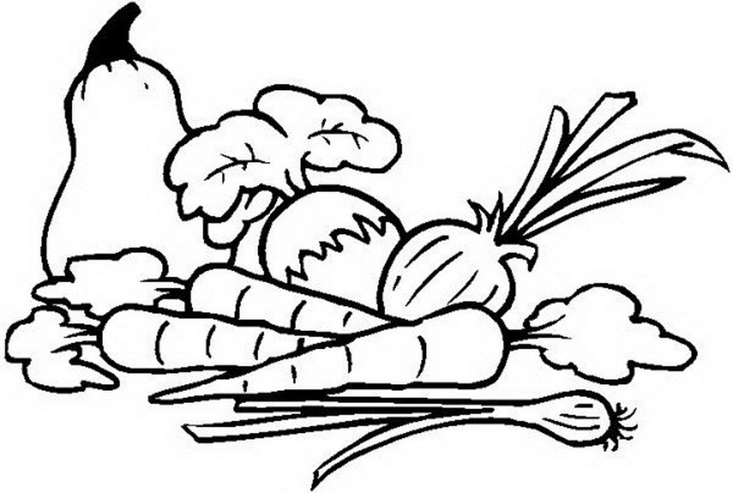 Coloring Pages Vegetables And Fruit - Coloring Page