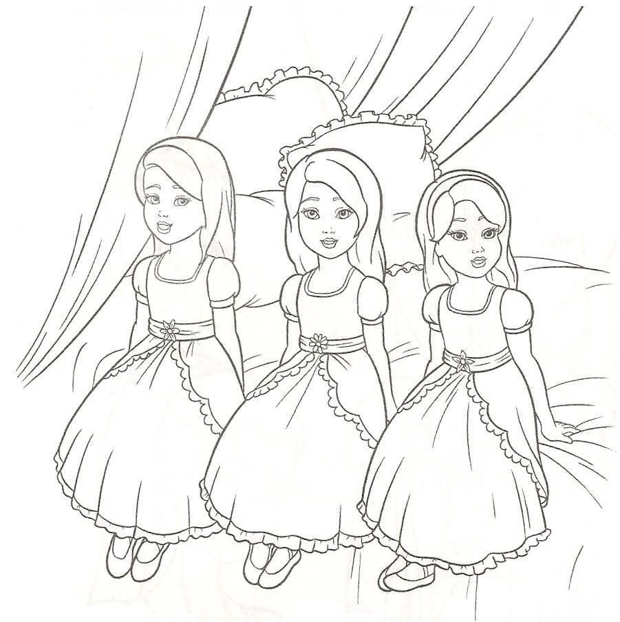Barbie doll coloring pages for kids 4 jpg