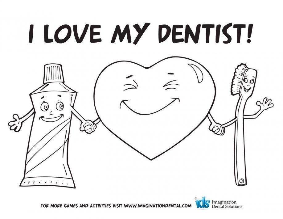 dental coloring pages for preschoolers - photo#35