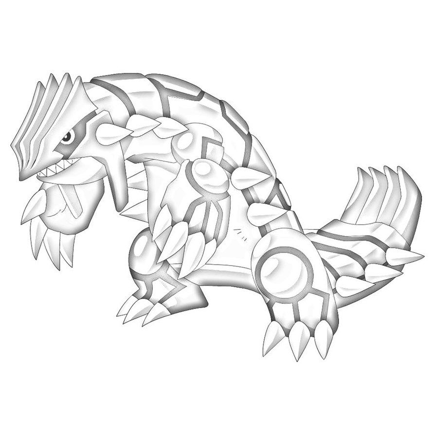Groudon Coloring Page Coloring Home