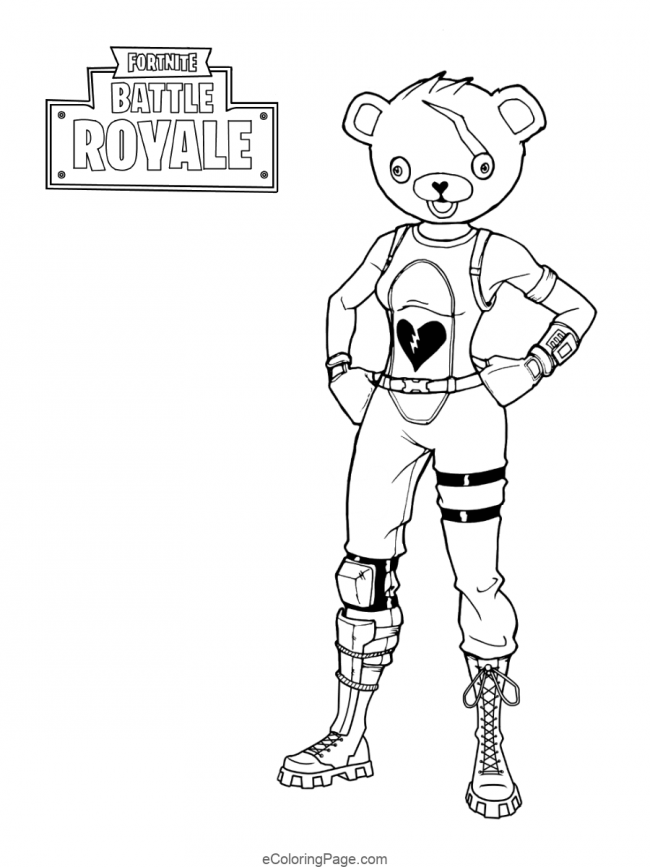 Fortnite-Battle-Royale-Bear-Printable-Coloring-Page | Bear coloring pages,  Coloring books, Coloring pages for boys