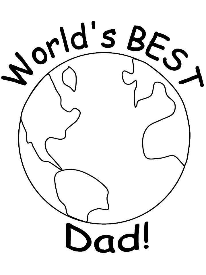 The Best Dad Coloring Pages To Print - Best Coloring Pages Inspiration And  Ideas - Coloring Home
