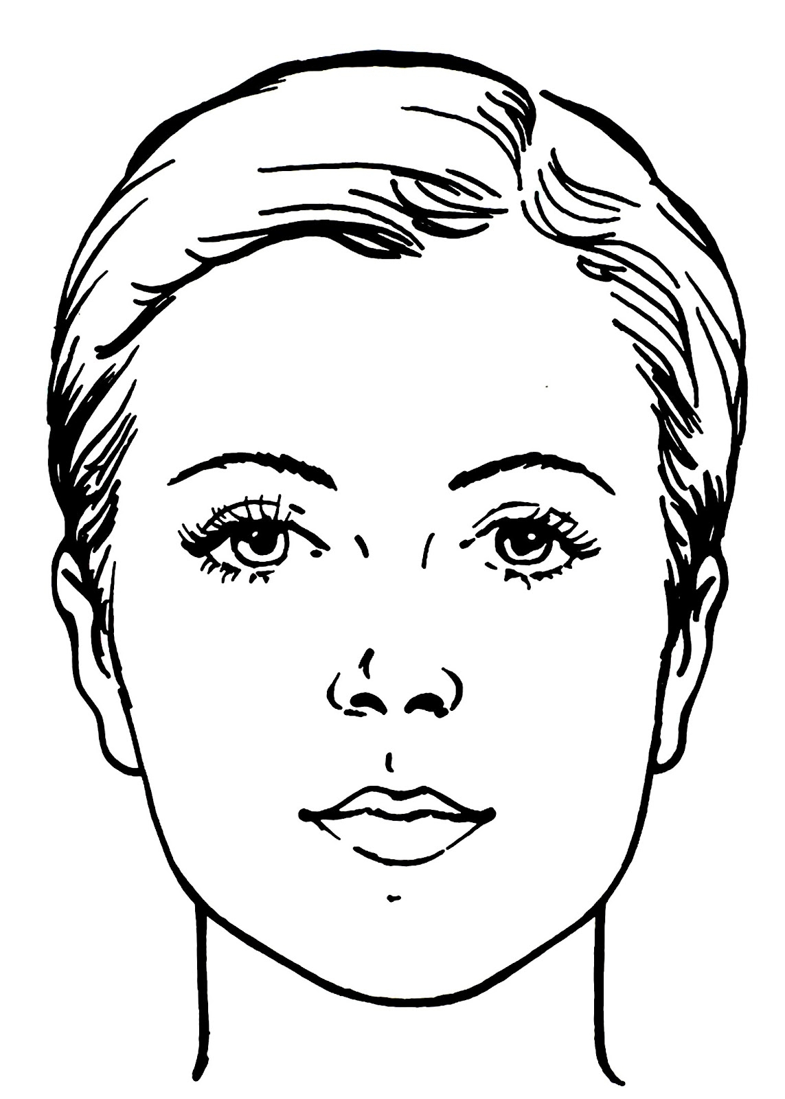 Coloring Pages Faces Ideas - Drewolanoff.com