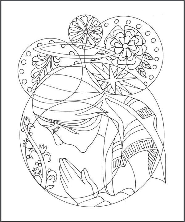 The Rosary Coloring Book (#50154)