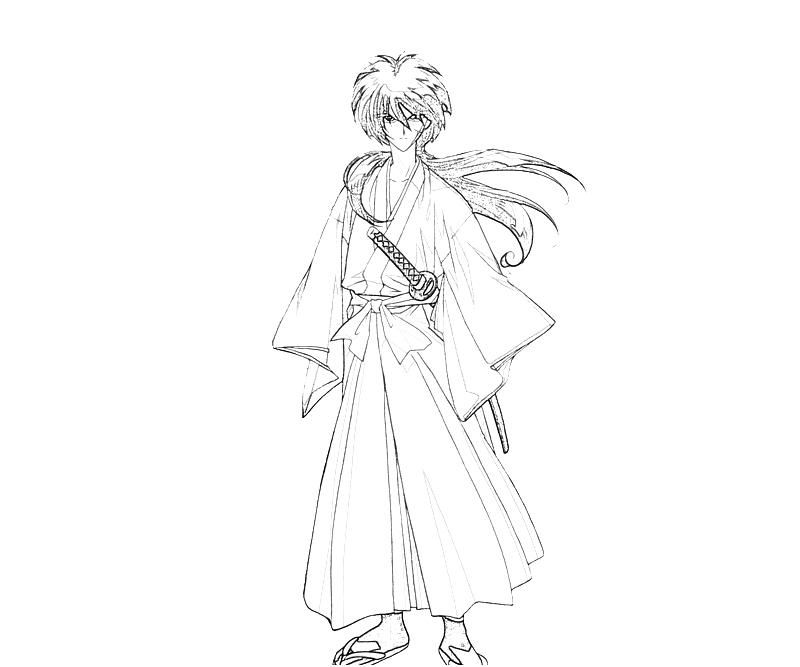 coloring pages for rurouni kenshin - photo#3