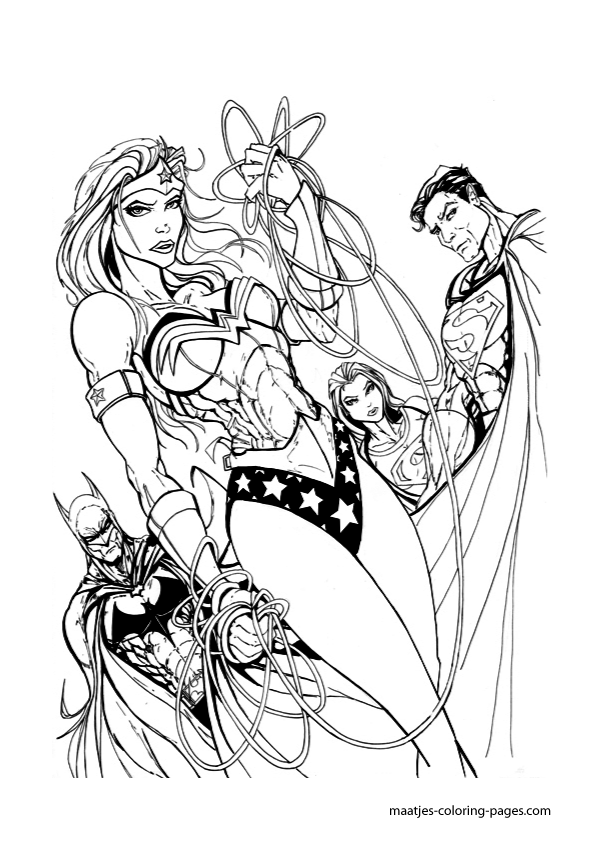 Wonderwoman Coloring Page Coloring
