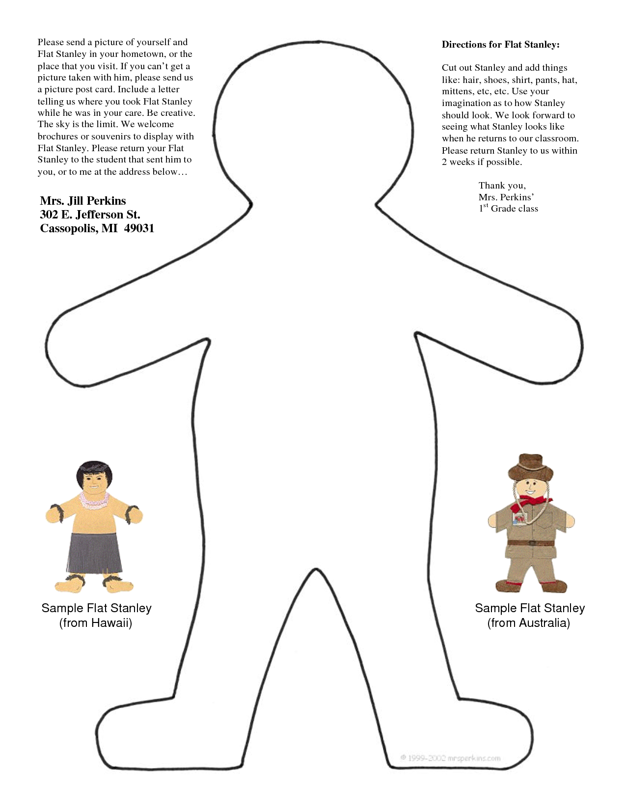 free flat stanley coloring pages