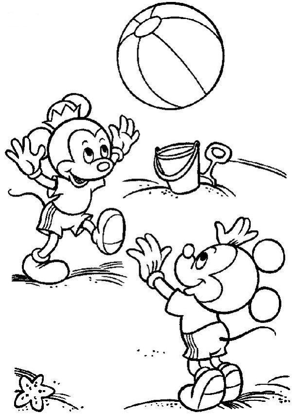 6 Pics Of Free Summer Beach Coloring Pages