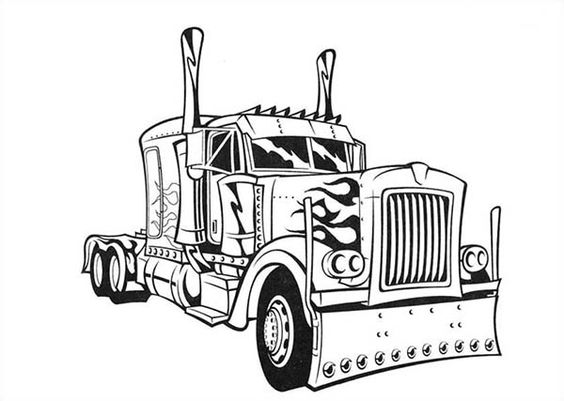 eighteen wheeler coloring pages - photo#2