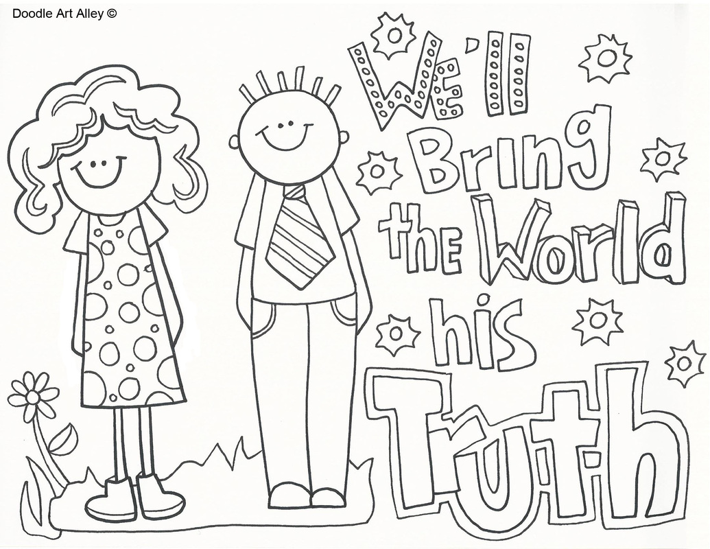 Missionary Coloring Pages Coloring