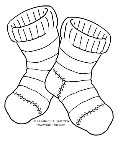 Dulemba: Coloring Page Tuesday - Fuzzy Socks - Coloring Home
