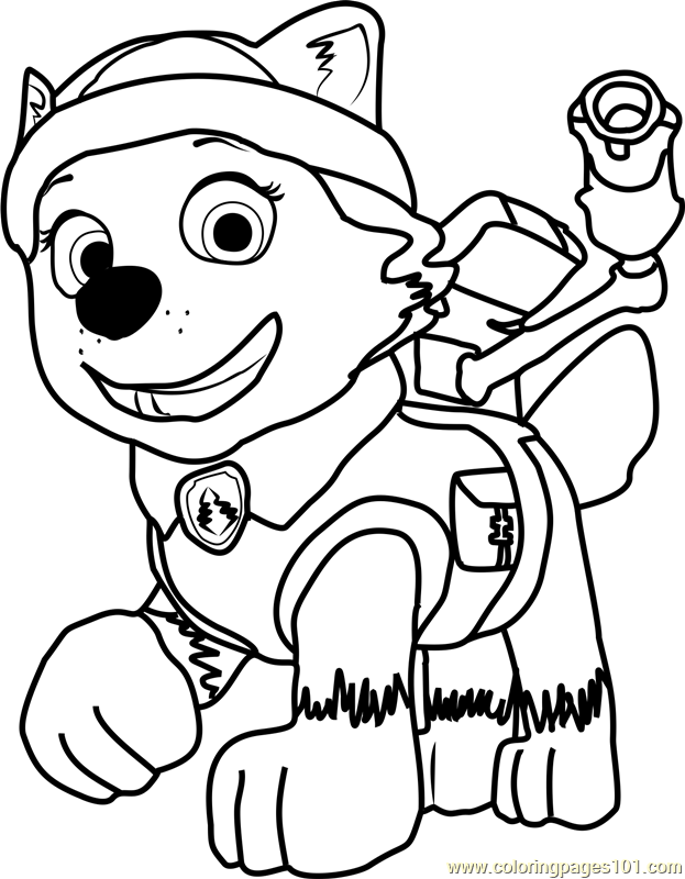 Paw Patrol Everest Coloring Pages - Coloring Home