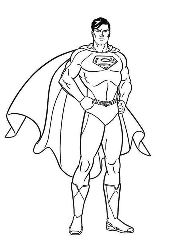 superman coloring pages kids printable ccoloringsheetscom - Superman Coloring Pages Kids