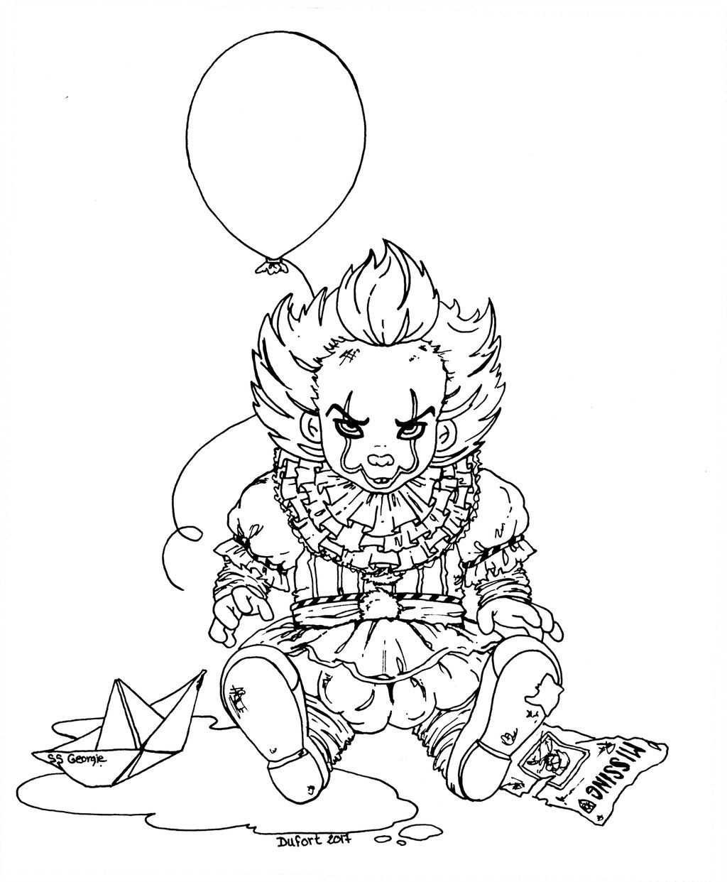 Pennywise Coloring Pages - Coloring Home