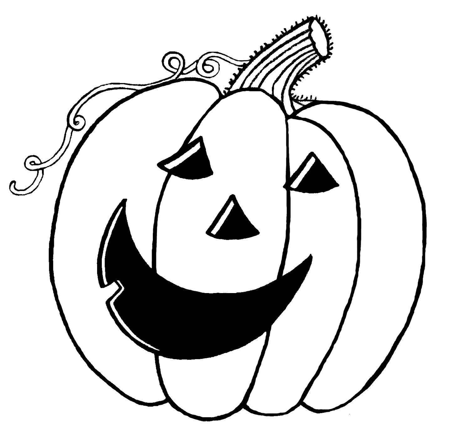 Happy Jack O Lantern Faces - AZ Coloring Pages